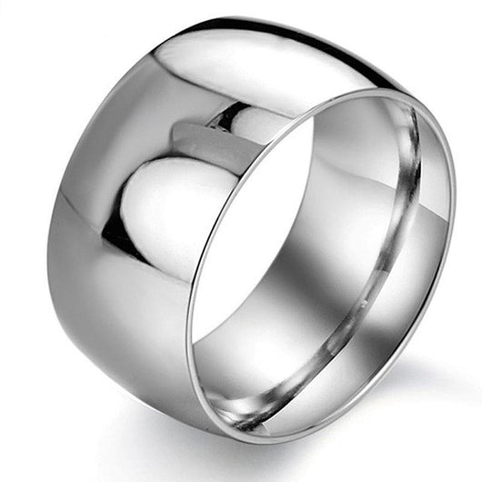 Black Stainless Steel Wedding Rings For Men Luxury 11.5MM Wide  Male Rings