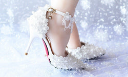 Ankle Strap Women wedding Sandals Handmade Crystall Bridal Shoes