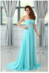 Chiffon turquoise colored  bridesmaid dress at Bling Brides Bouquet online Bridal Store