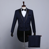 Mens 5 piece Classic wedding Tuxedo Grooms wedding suit
