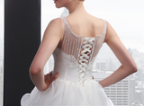 Ball Gown Wedding Dress with Corset Lace Up Back at Bling Brides Bouquet
