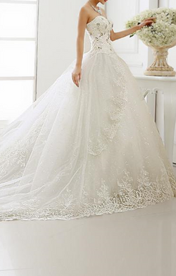 A-Line Wedding Dress Princess Sweetheart  Lace Up Bridal Gowns