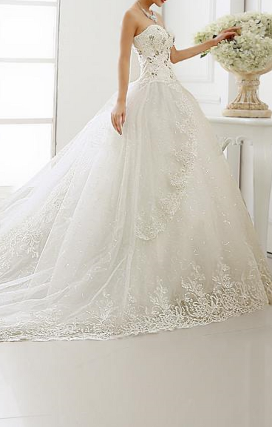 Princess Sweetheart wedding dress  Lace Up Bridal Gowns