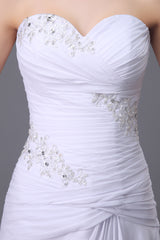 Sweetheart Lace Chiffon Wedding Dresses with Beading at Bling Brides Bouquet
