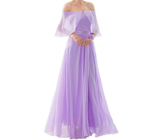Lavender Chiffon Bridesmaids Dresses At Bling Brides Bouquet - Online bridal store