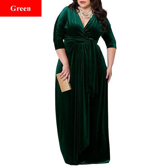 Velour Sursplice Evening Maxidress at Bling Brides Bouquet - Online Bridal Store