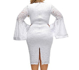 Plus Sized Bodycon lace Party Dresses at Bling Brides Bouquet Online Bridal Store.