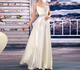 V-Neck Fashion Formal Party Plus size long Evening Dress