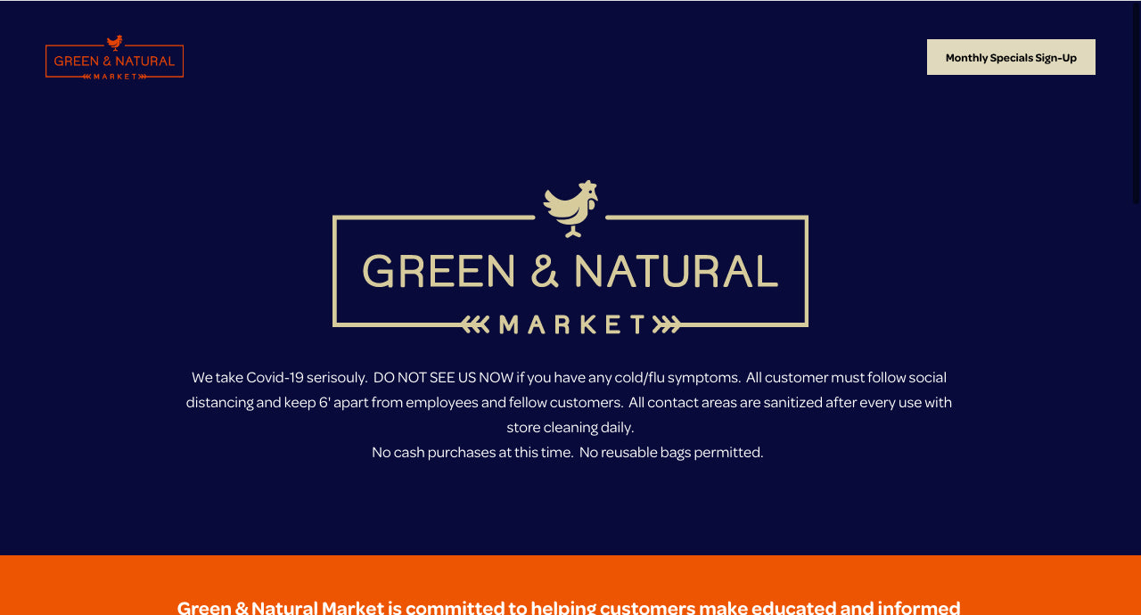 Green and Natural Website Design