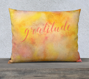 "Gratitude Pillowcase – 26"" x 20"""