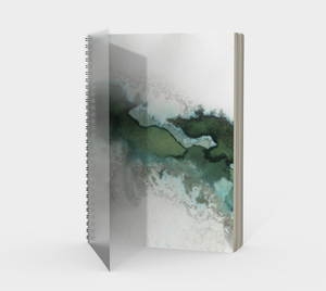 Green Marble Spiral Notebook
