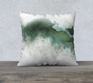 "Green Marble Pillowcase – 22"" x 22"""