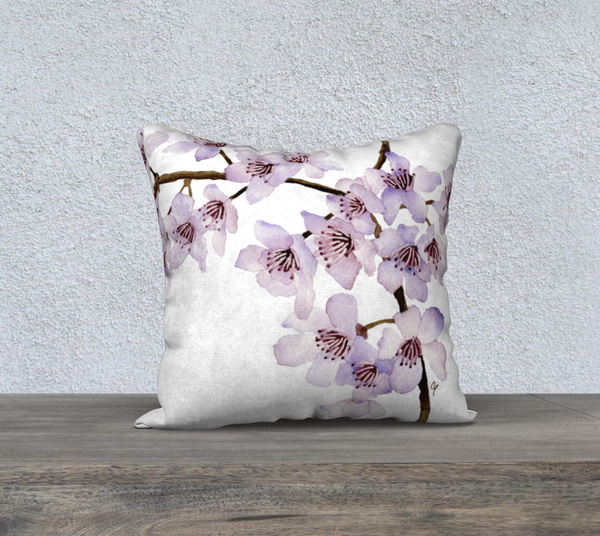 "Cherry Blossoms Pillowcase – 18"" x 18"""