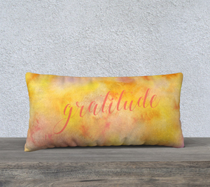 "Gratitude Pillowcase – 24"" x 12"""