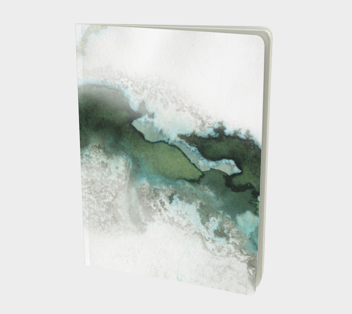Green Marble Notebook Large