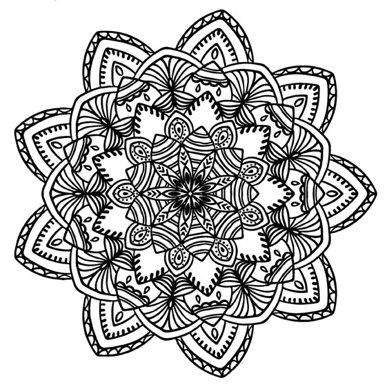 Mandala 10 Colouring Sheet