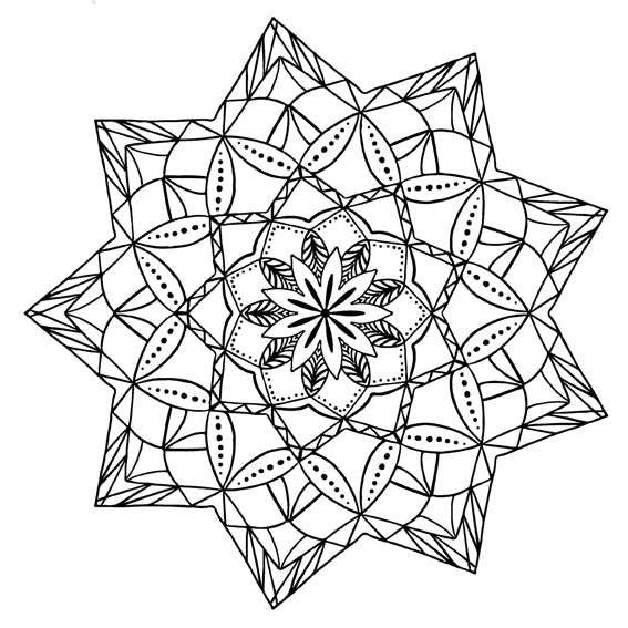 Mandala 12 Colouring Sheet