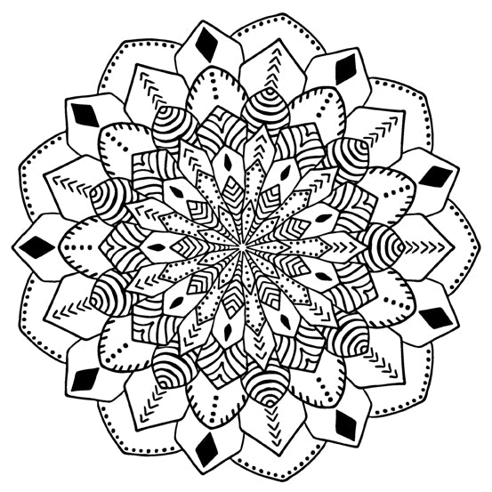 Mandala 14 Colouring Sheet
