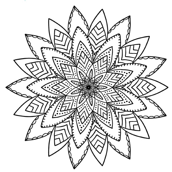 Mandala 16 Colouring Sheet
