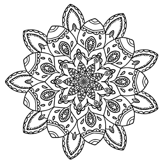 Mandala 17 Colouring Sheet
