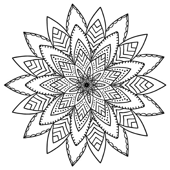 Mandala 1 Colouring Sheet