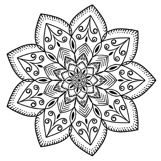 Mandala 22 Colouring Sheet