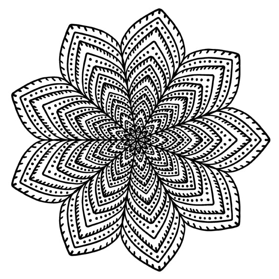 Mandala 25 Colouring Sheet