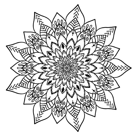 Mandala 28 Colouring Sheet