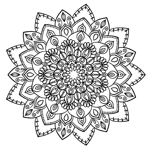 Mandala 32 Colouring Sheet
