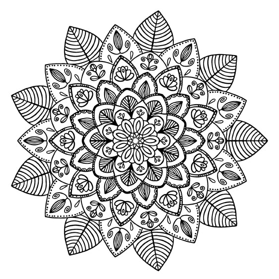 Mandala 36 Colouring Sheet