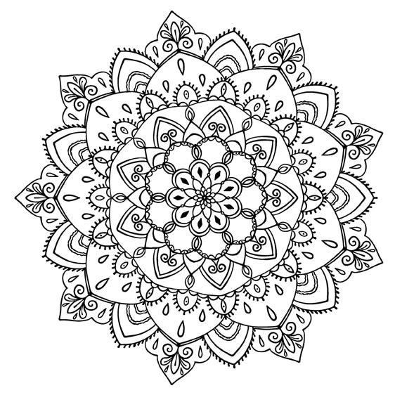 Mandala 37 Colouring Sheet
