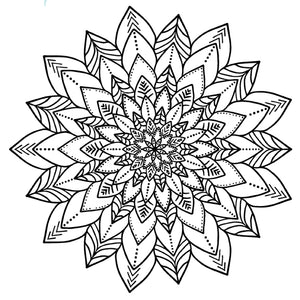 Mandala 3 Colouring Sheet