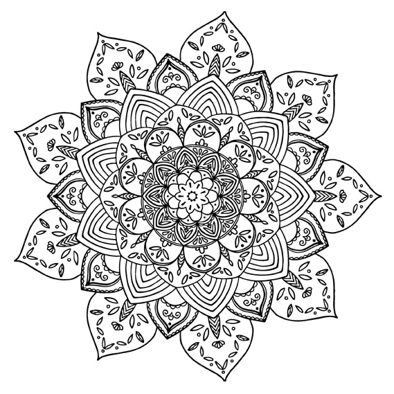 Mandala 40 Colouring Sheet