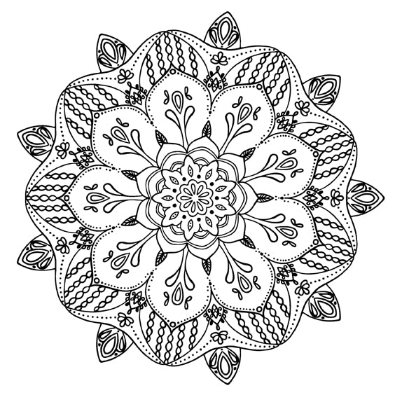 Mandala 41 Colouring Sheet