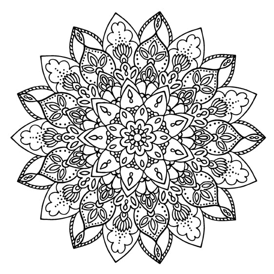 Mandala 47 Colouring Sheet