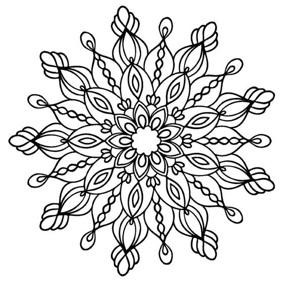 Mandala 48 Colouring Sheet