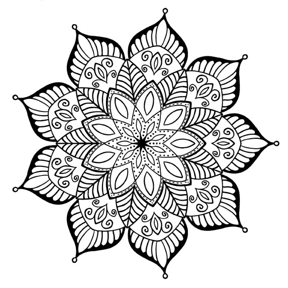 Mandala 50 Colouring Sheet