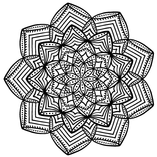 Mandala 8 Colouring Sheet