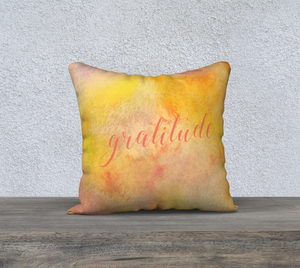 "Gratitude Pillowcase – 18"" x 18"""