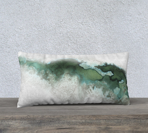 "Green Marble Pillowcase – 24"" x 12"""