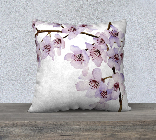 "Cherry Blossoms Pillowcase – 22"" x 22"""