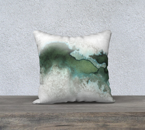 "Green Marble Pillowcase – 18"" x 18"""