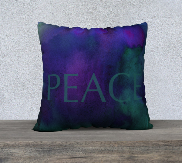 "Peace Pillowcase – 22"" x 22"""