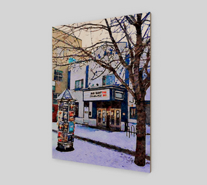 Kensington Plaza Theatre Wood Print