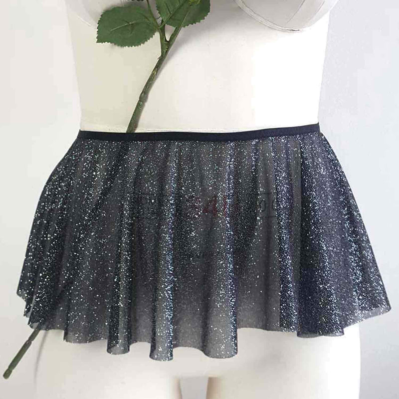 Amber and Indigo Aurora Peep Skirt made from sparkle fabric