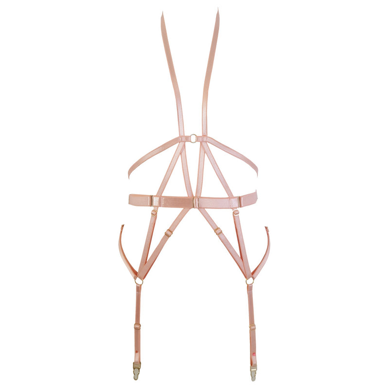 Black Widow Harness in Rose gold