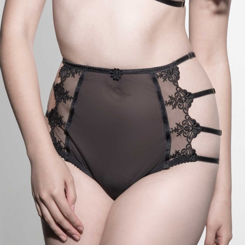 Amber and Indigo Virtue Lace High Waist Knickers
