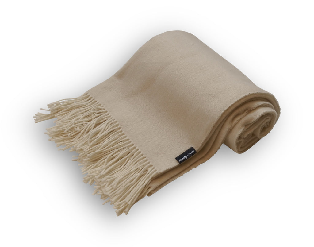 Comfy Pure Wool Fringed Throw