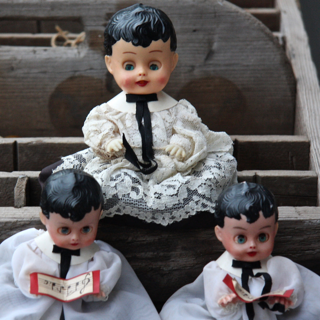 Vintage Christmas Choir Boy Dolls