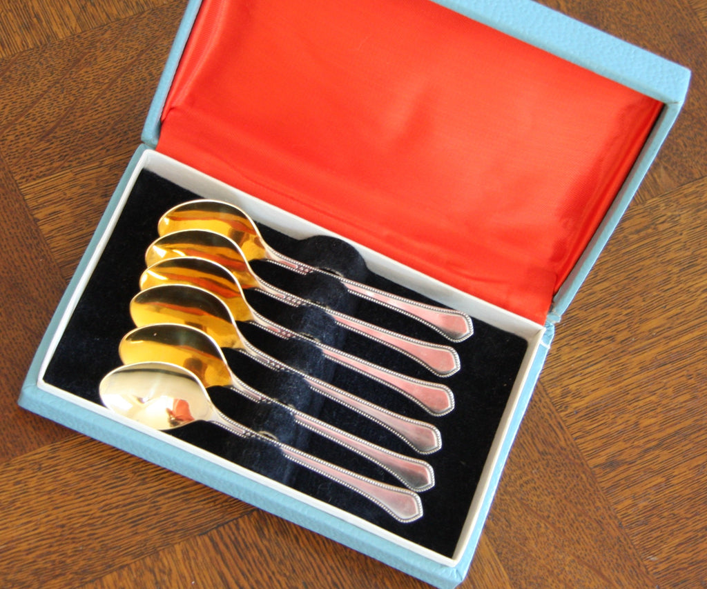 Boxed Set 6 Vintage Teaspoons from Sweden
